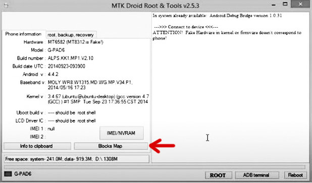 MTK Droid Tool create Scatter File for SP flash tool
