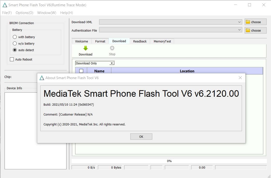 SP Flash Tool v6.2120 Download on your Windows PC